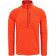 """The North Face M's Ambition 1/4 Zip Long Sleeve Shirt Acrylic Orange Heather/Ketchup Red"""